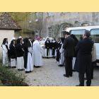 Bénédiction du véhicule et des personnes qui vont emporter le dossier à Rome
